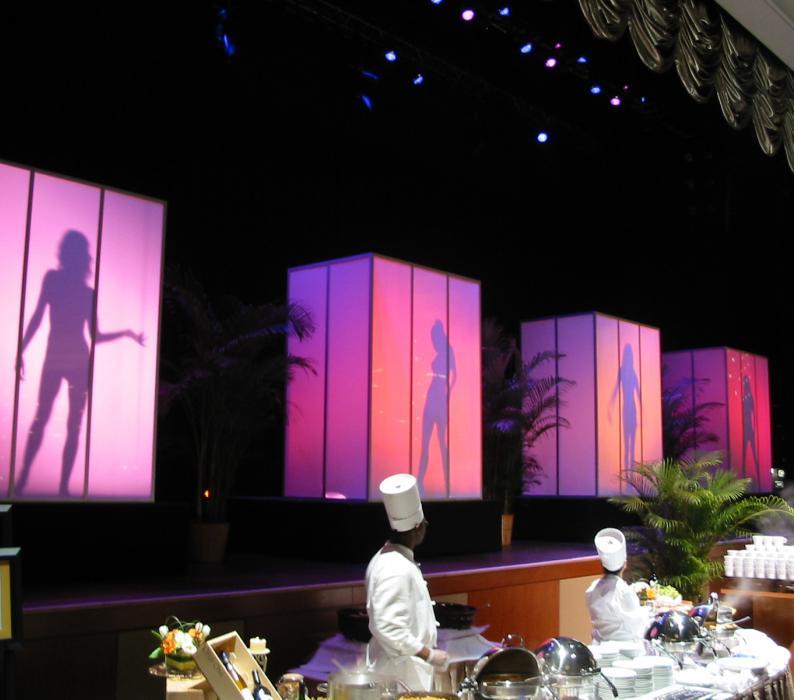 Shadow dancers and Display at Borgatta Hotel Atlantic city