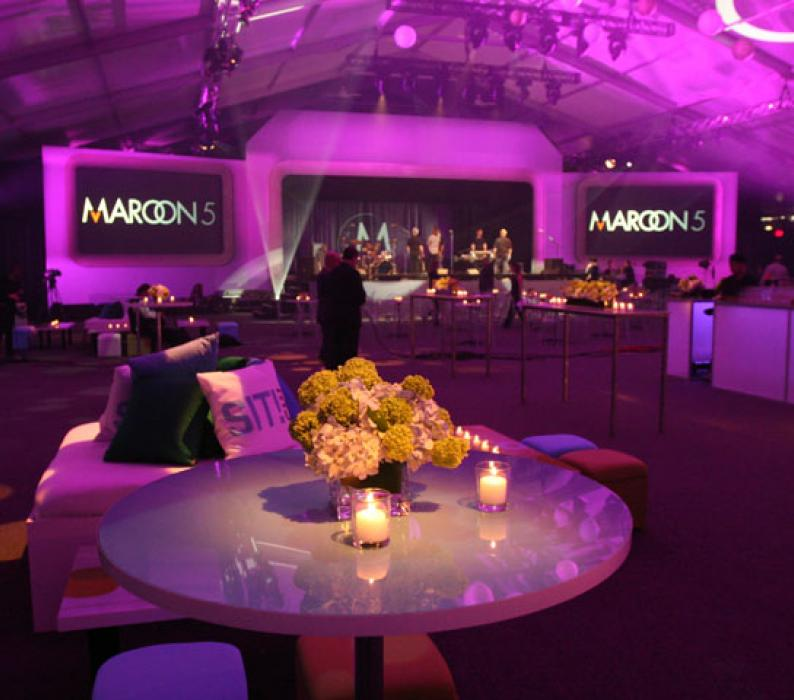 Custom Stage Set and Decor CW Maroon 5