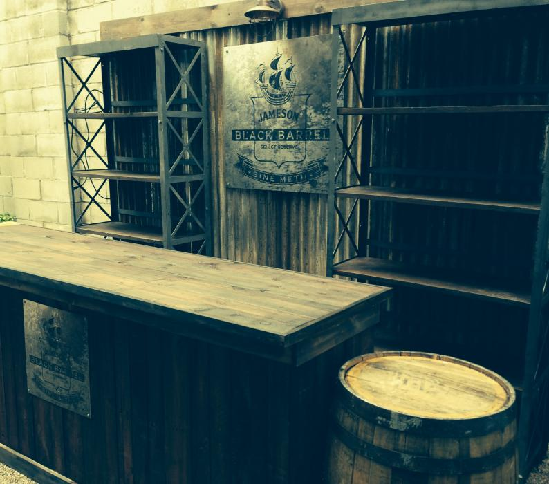 Jameson Black Barrel Pop up Bar
