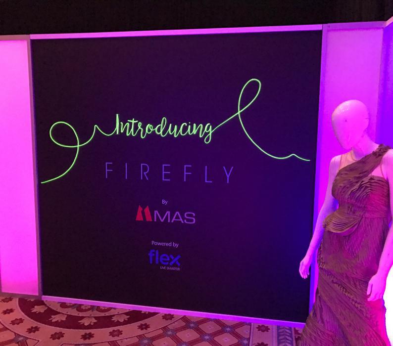 MAS Technology custom show room during CES Vegas at Caesars Palace
