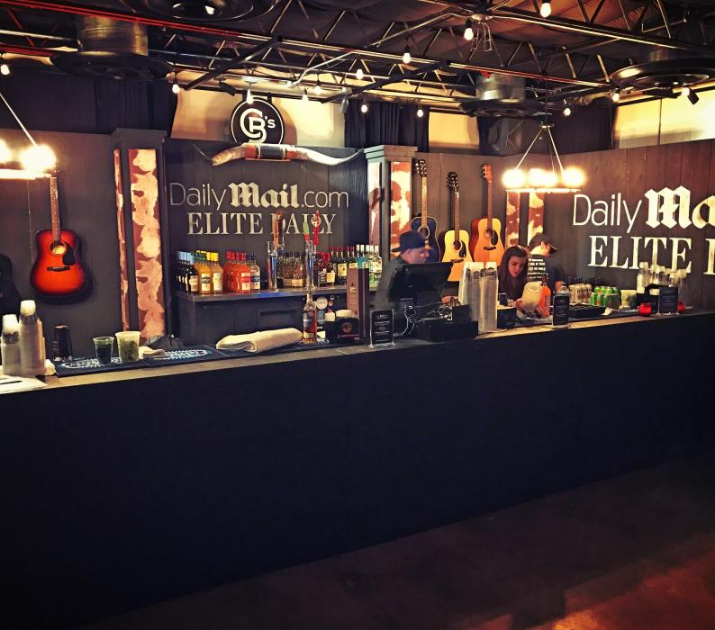 Custom Bar for Daily Mail Media temple VIP after party for SXSW Austin Texas