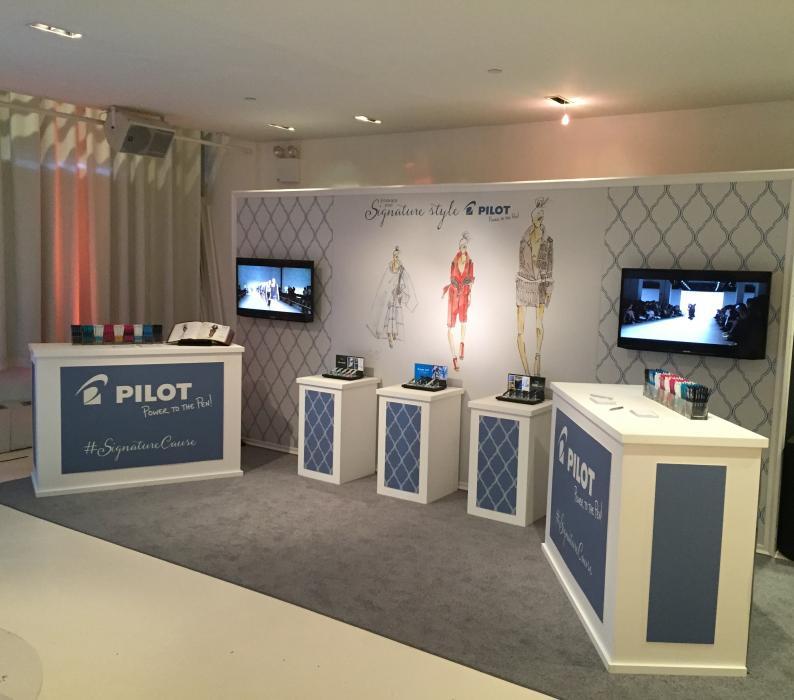 Pilot Pen NY Fashion Week style lounge