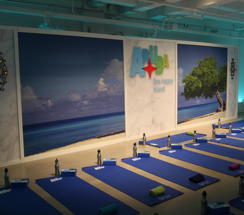 Yoga Demonstration Area for Aruba Wellness Day