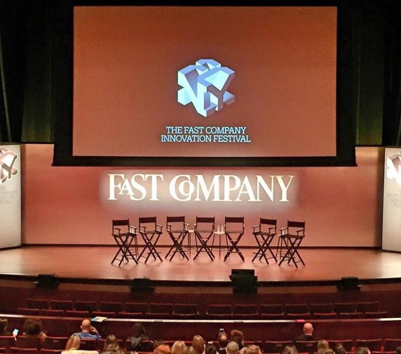 Fast Company Innovation Festival Stage Set